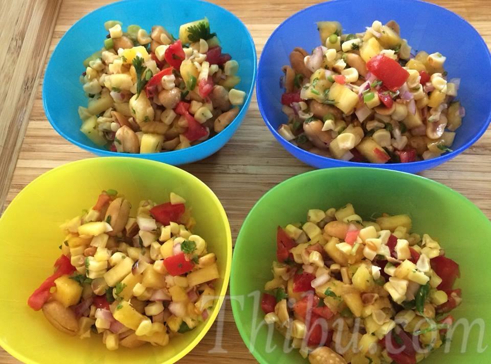 corn pineapple chaat