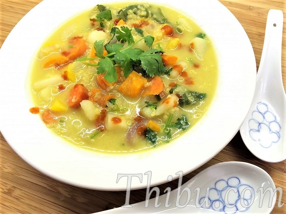 VEGETABLES & QUINOA GREEN CURRY STEW