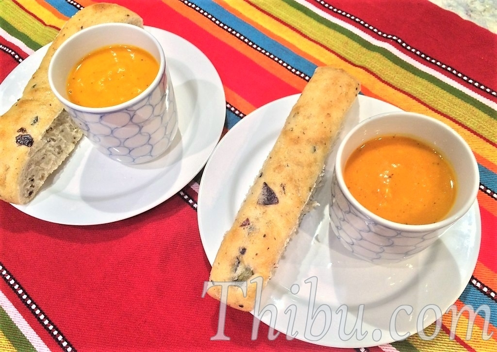 PUMPKIN CARROT & TOMATO SOUP